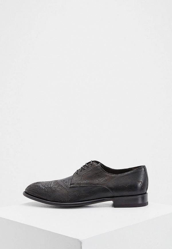 мужские туфли etro, черные