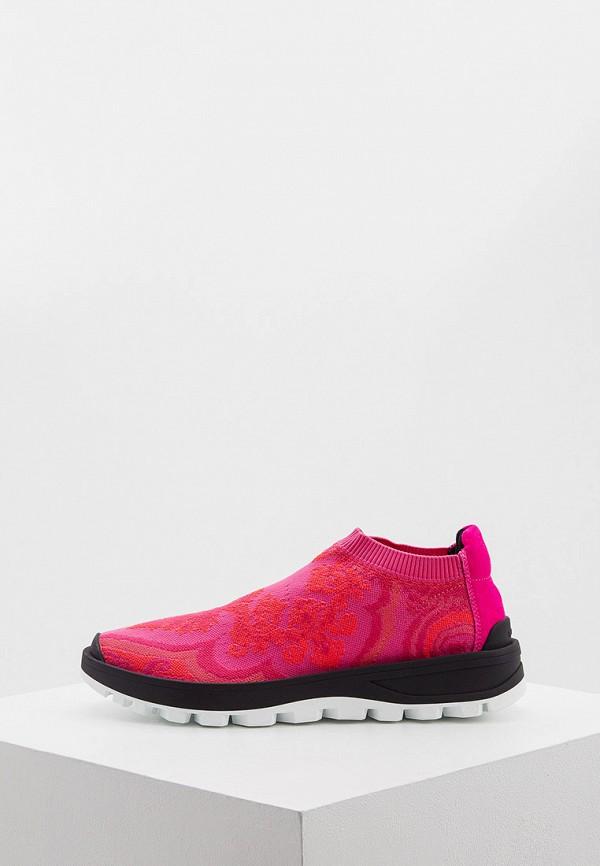 женские кроссовки etro, розовые