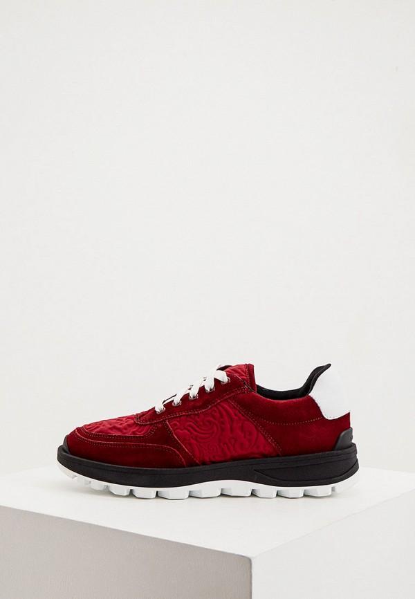 женские кроссовки etro, бордовые