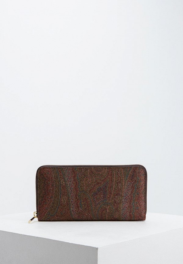 мужской кошелёк etro, коричневый