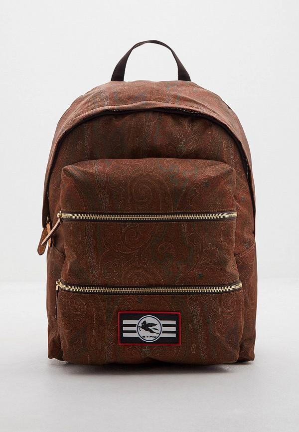 мужской рюкзак etro, коричневый
