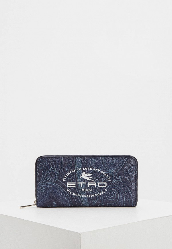 мужской кошелёк etro, синий