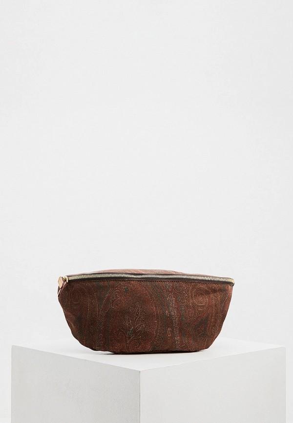 мужская сумка etro, коричневая