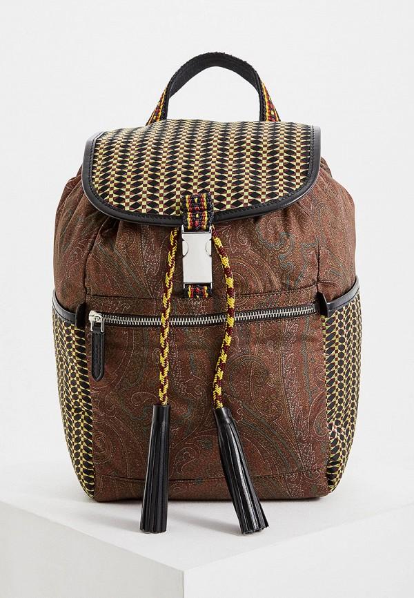 женский рюкзак etro, коричневый
