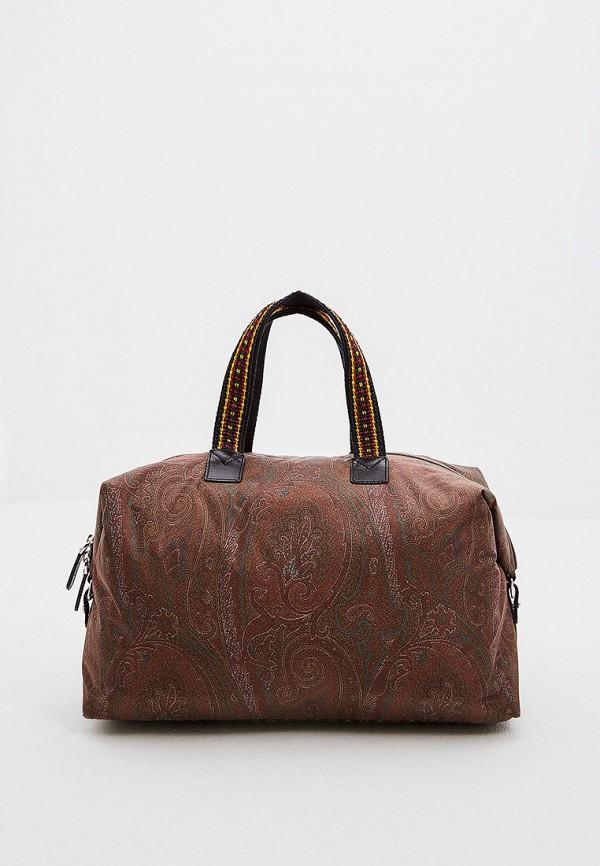 женская сумка etro, коричневая