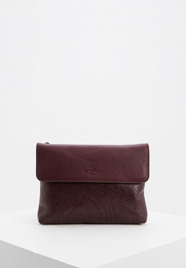 женская сумка etro, бордовая