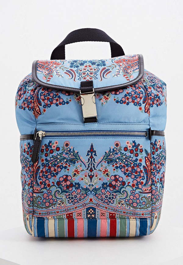 женский рюкзак etro, голубой