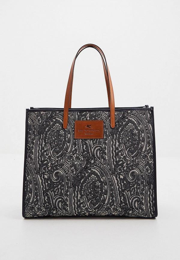 женская сумка-шоперы etro, синяя