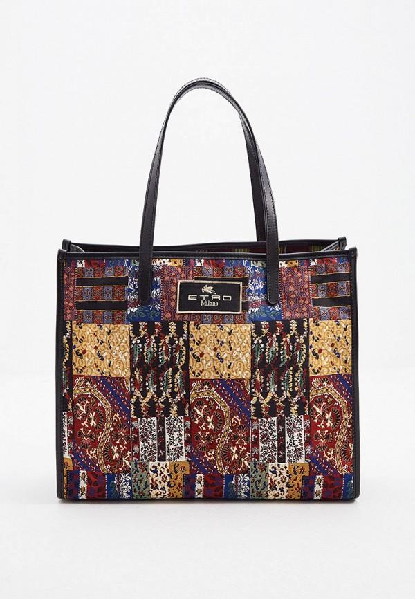 женская сумка etro, разноцветная