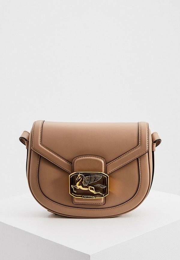 женская сумка etro, бежевая