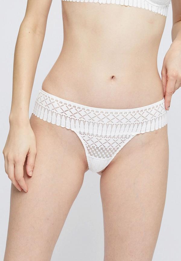 женские трусы-стринги etam, белые
