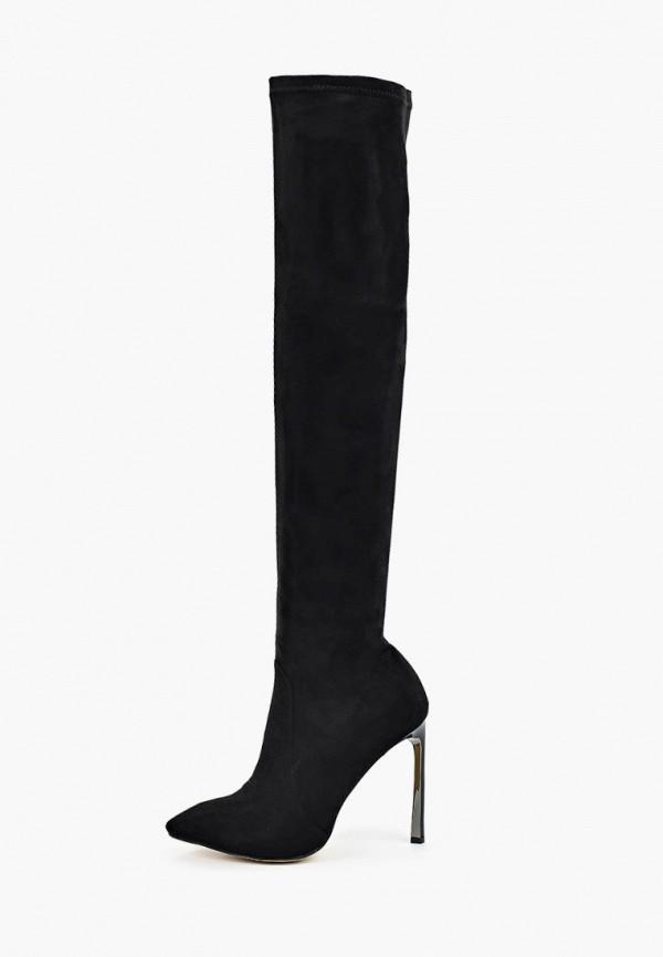 женские ботфорты euros style, черные