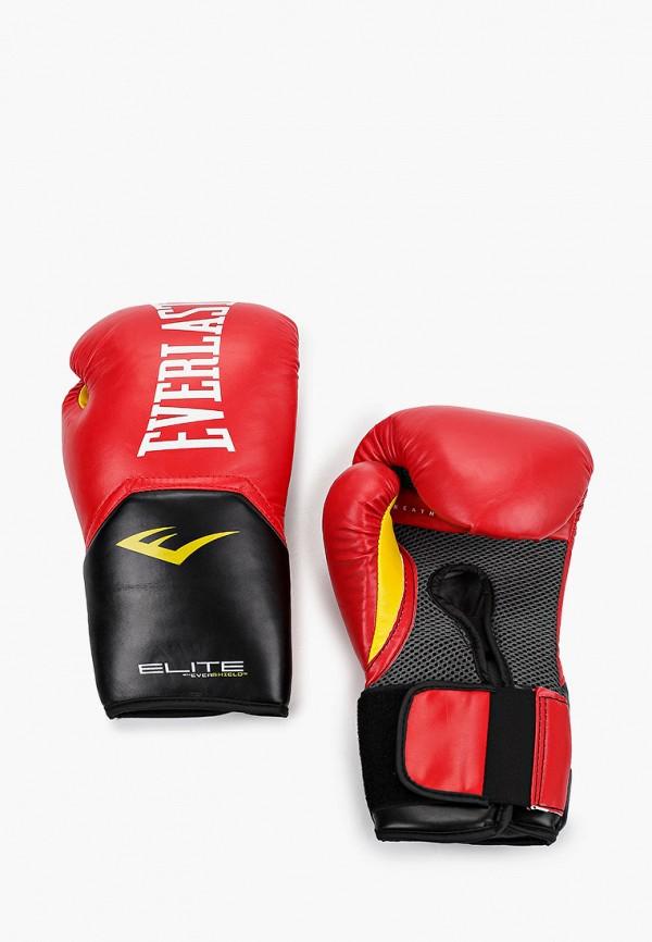 Перчатки боксерские Everlast красного цвета