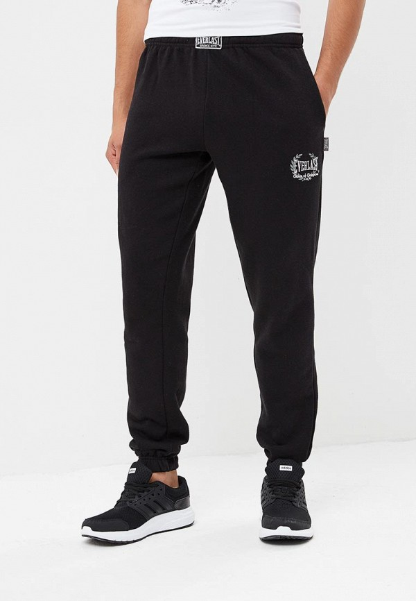 мужские спортивные спортивные брюки everlast, черные