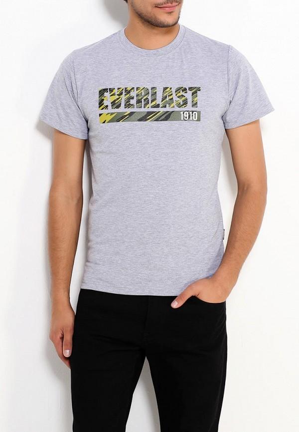 мужская футболка с коротким рукавом everlast, серая