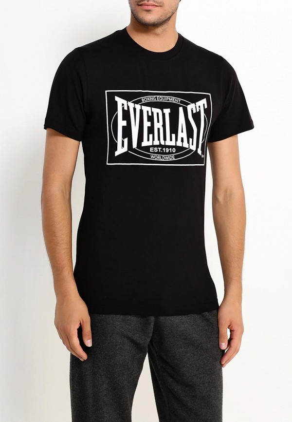 мужская футболка с коротким рукавом everlast, черная