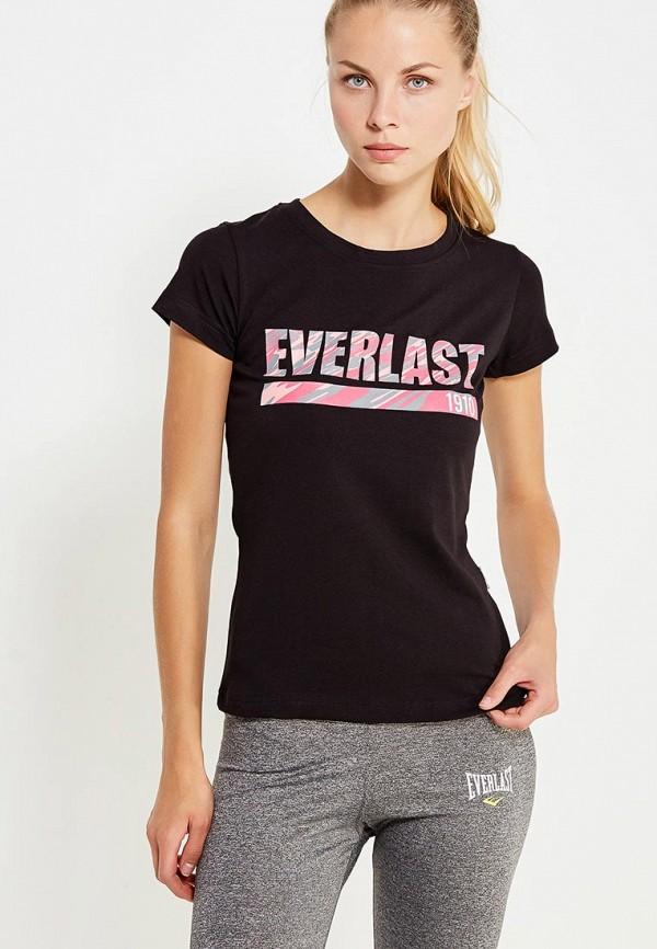 женская спортивные футболка everlast, черная