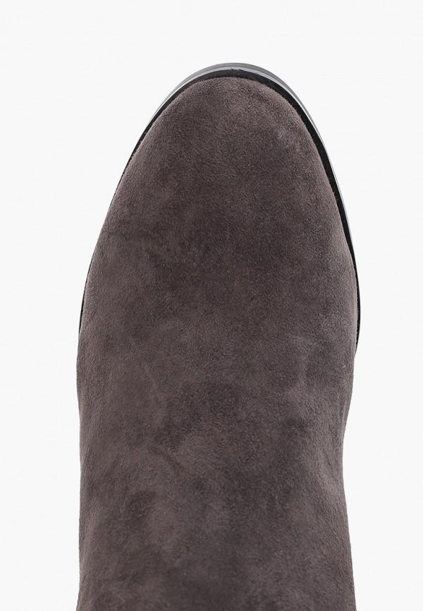 Фото 4 - Женские ботфорты Evita серого цвета