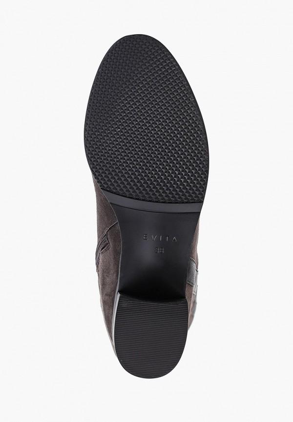 Фото 5 - Женские ботфорты Evita серого цвета