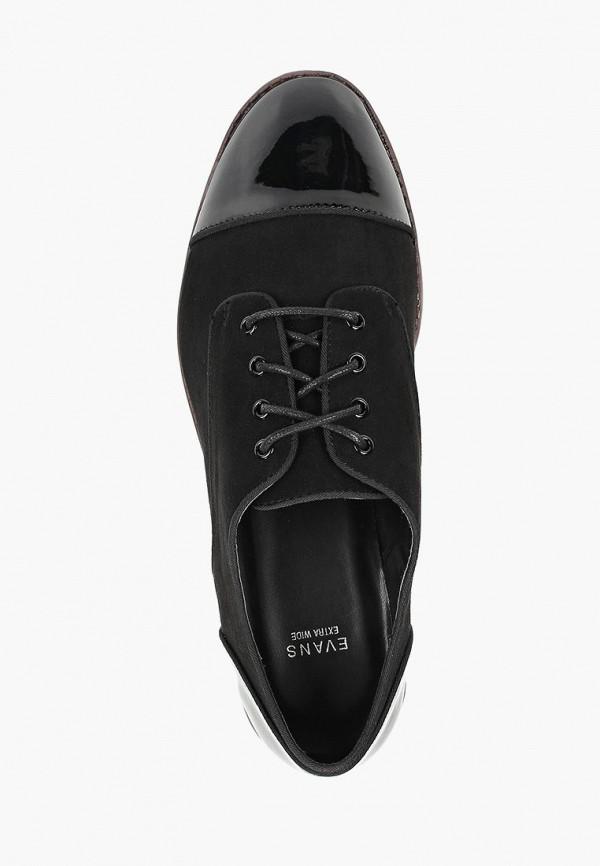 Фото 4 - женские ботинки и полуботинки Evans черного цвета
