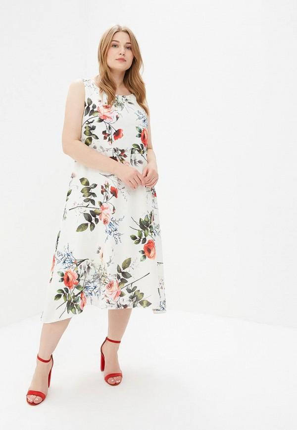 Фото 2 - женское платье Evans белого цвета