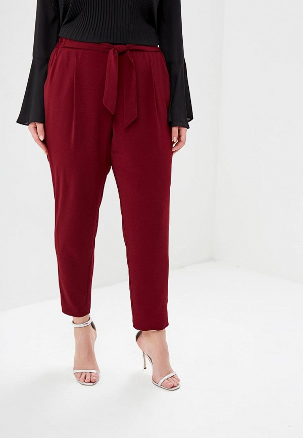 женские повседневные брюки evans, бордовые
