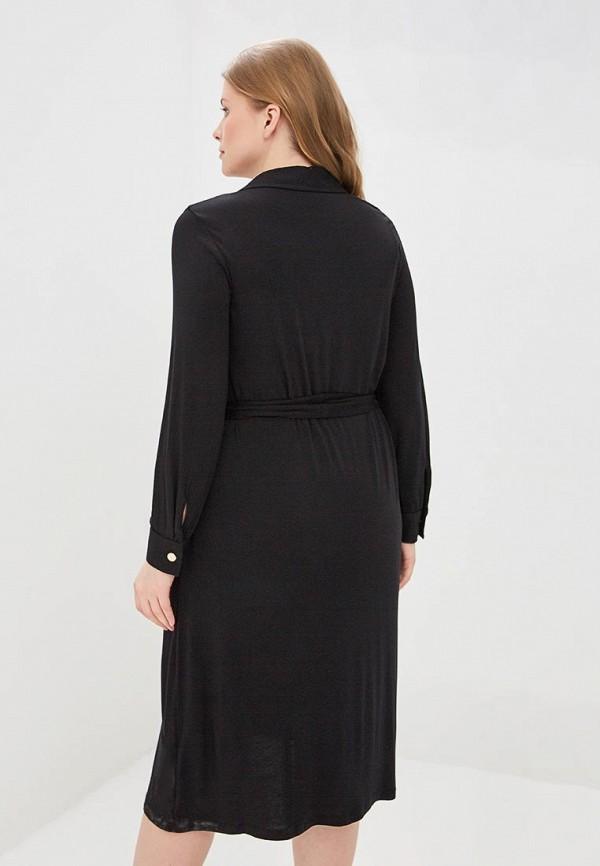 Фото 3 - женское платье Evans черного цвета