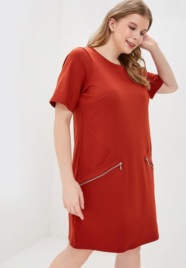 женское повседневные платье evans, коричневое