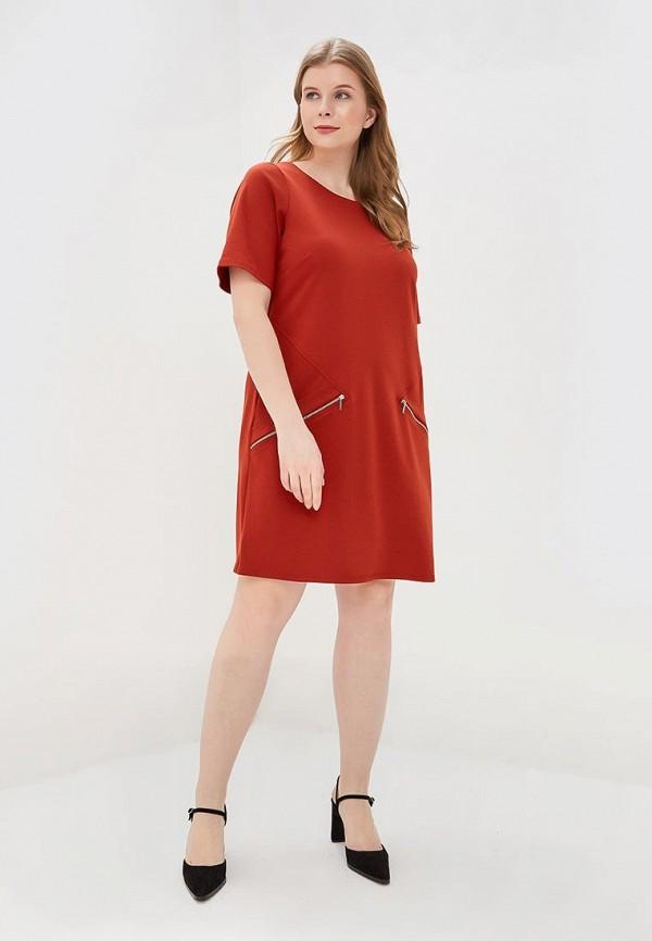 Фото 2 - женское платье Evans коричневого цвета
