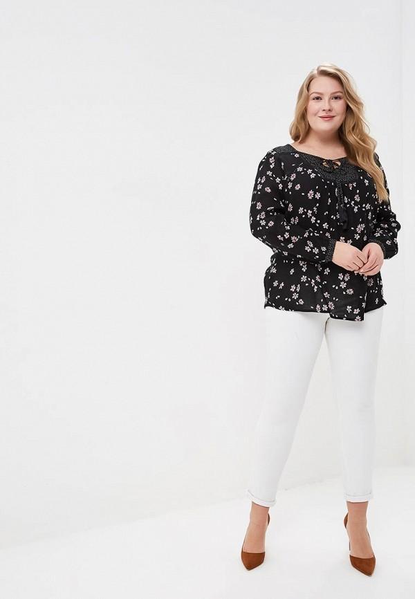 Фото 2 - женскую блузку Evans черного цвета