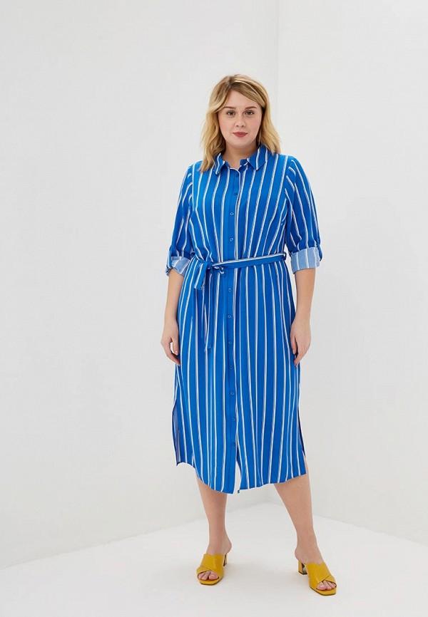 женское повседневные платье evans, голубое