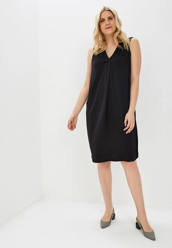 Фото 2 - женское платье Evans черного цвета