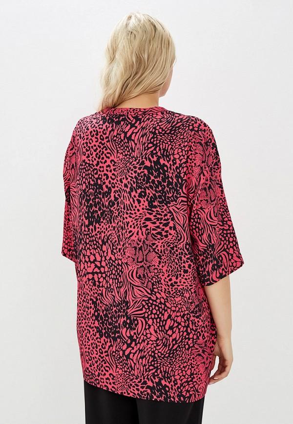 Фото 3 - женскую блузку Evans розового цвета