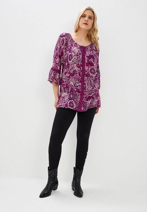 Фото 2 - женскую блузку Evans фиолетового цвета