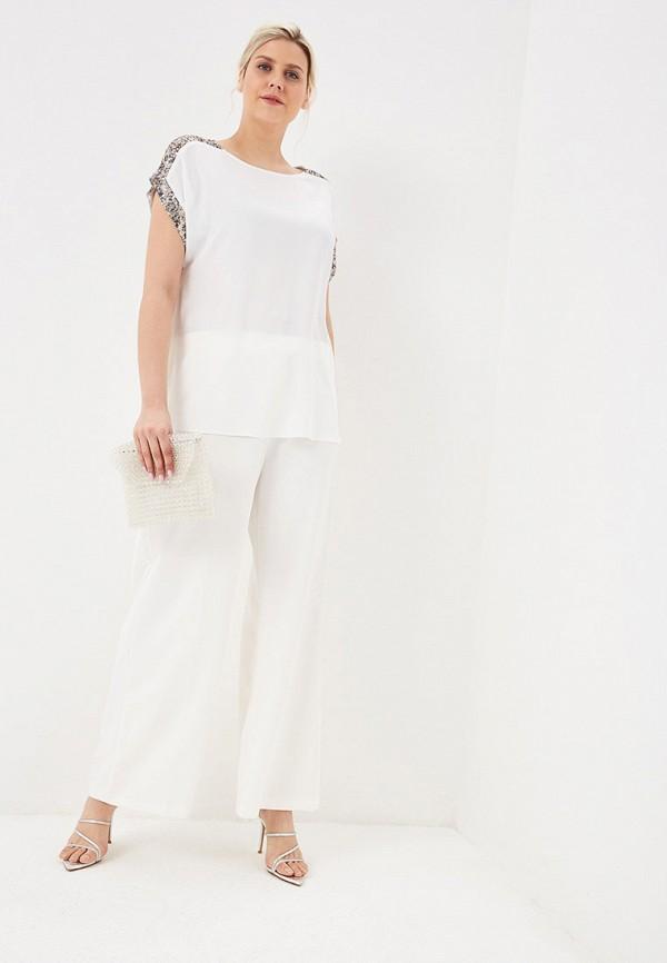 Фото 2 - женские брюки Evans белого цвета