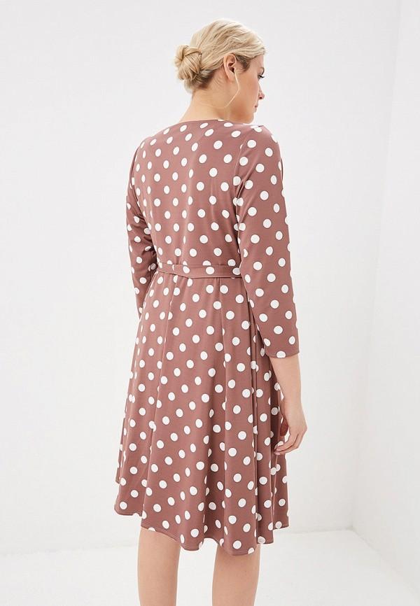 Фото 3 - женское платье Evans коричневого цвета