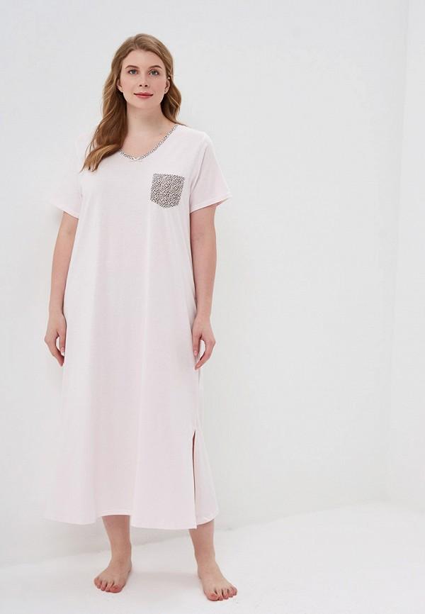 женские сорочка ночная evans, розовые