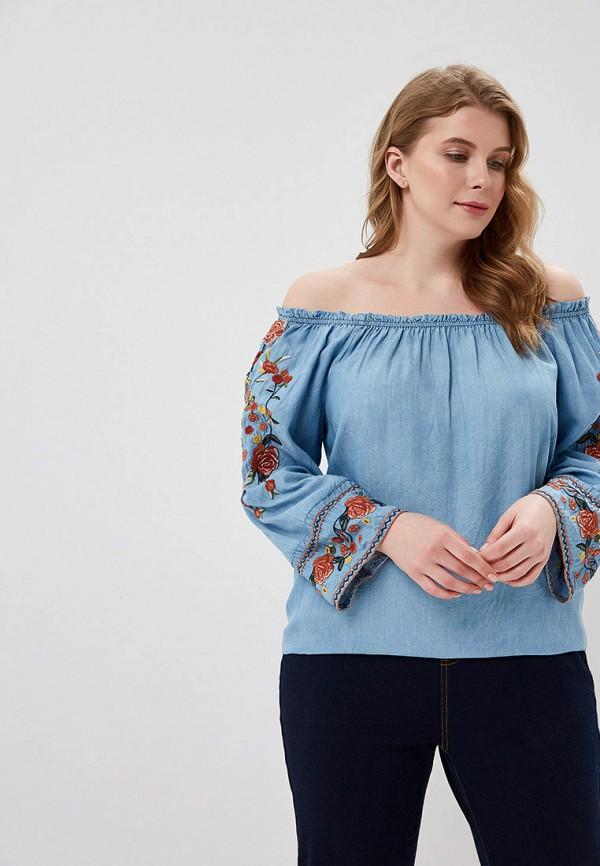женская блузка evans, голубая