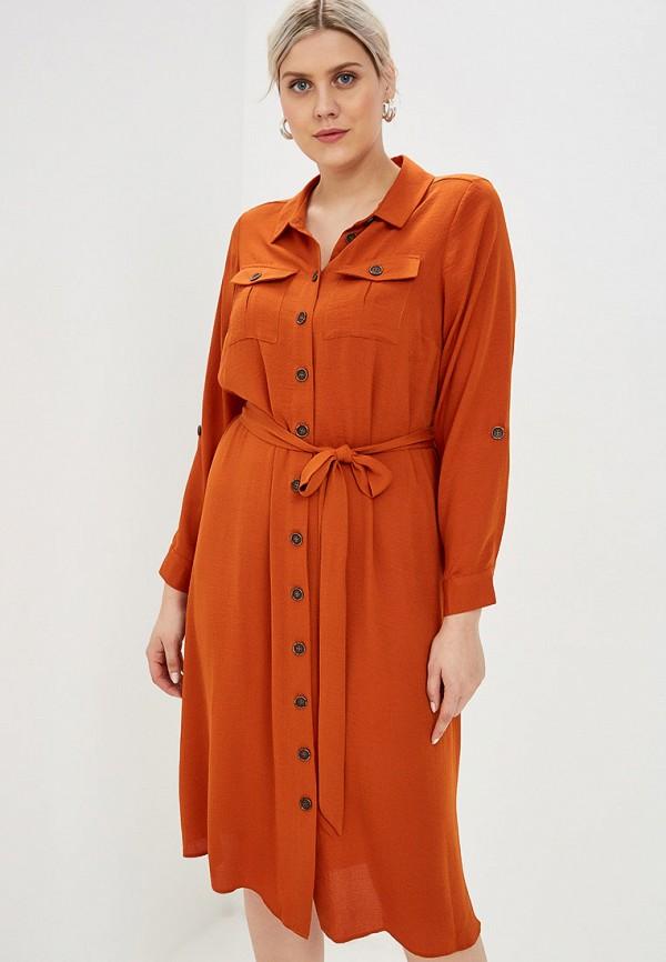 женское повседневные платье evans, оранжевое