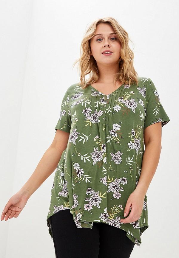 женская блузка evans, зеленая
