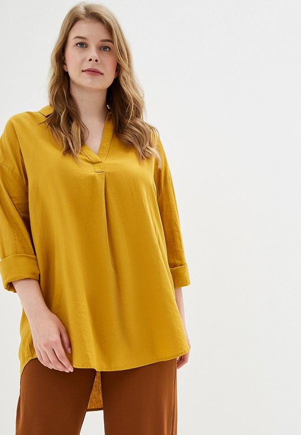 женская блузка evans, желтая