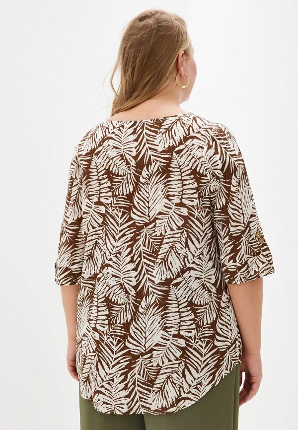 Фото 3 - Женскую блузку Evans коричневого цвета