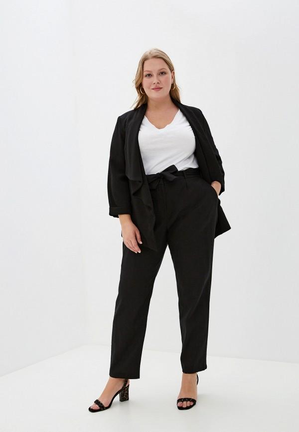 Фото 2 - женские брюки Evans черного цвета