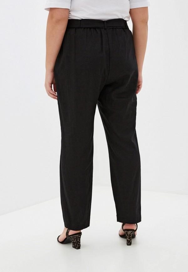 Фото 3 - женские брюки Evans черного цвета