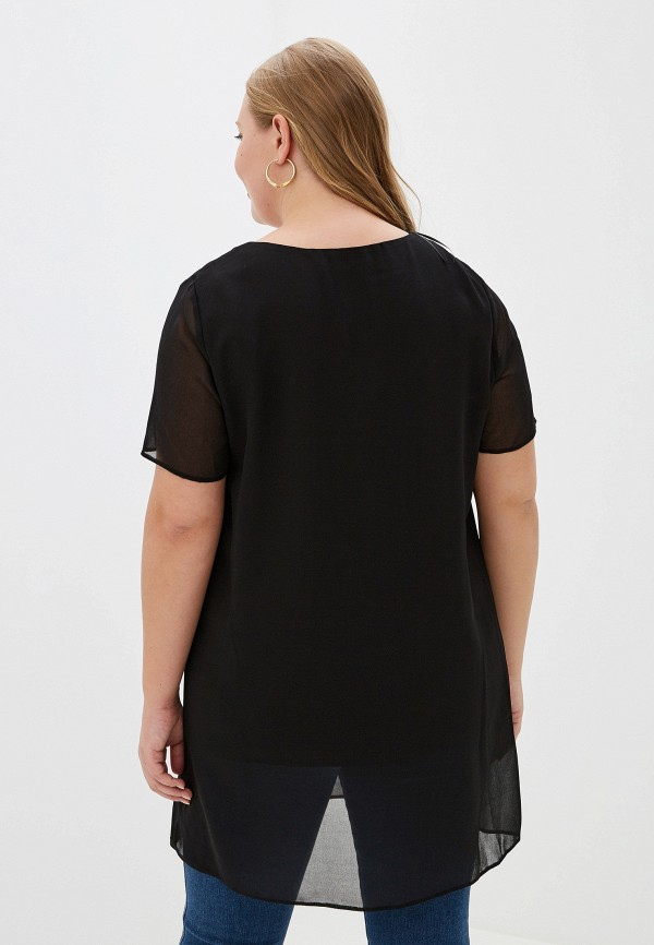 Фото 3 - женскую блузку Evans черного цвета