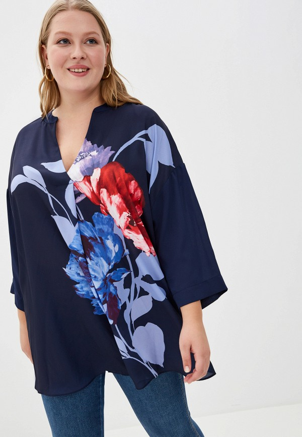 Фото - женскую блузку Evans синего цвета