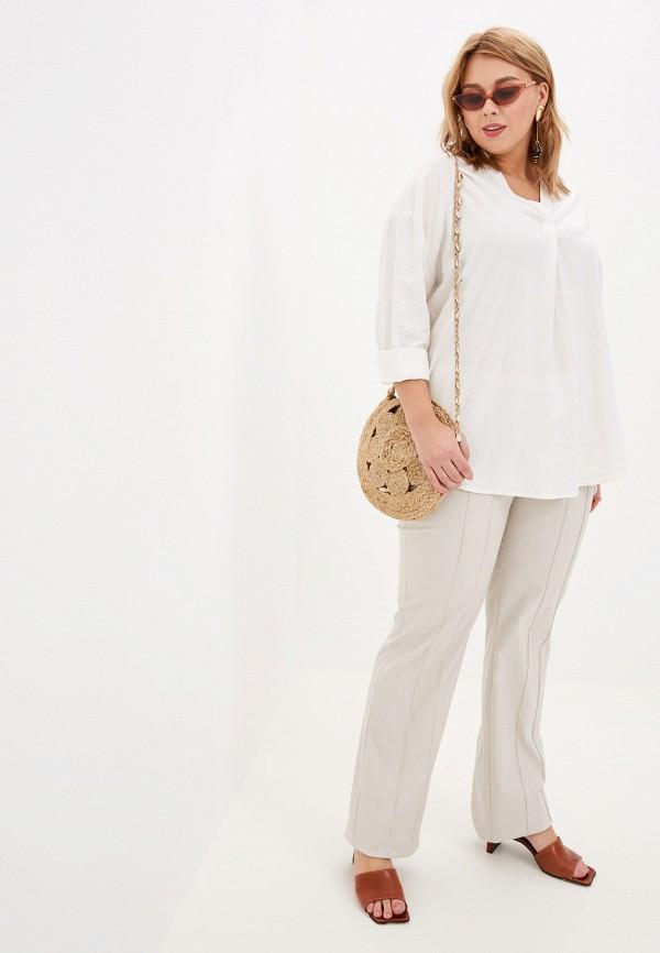 Фото 2 - женскую блузку Evans белого цвета