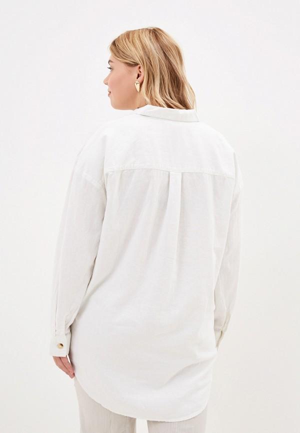 Фото 3 - женскую блузку Evans белого цвета