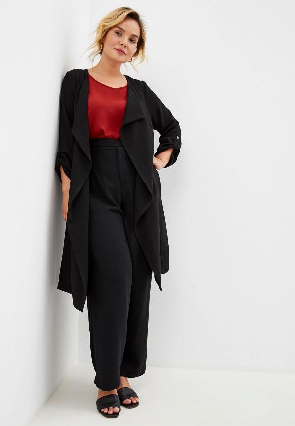 Фото 2 - женский кардиган Evans черного цвета
