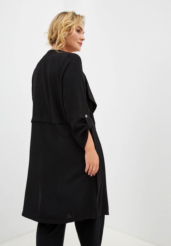 Фото 3 - женский кардиган Evans черного цвета